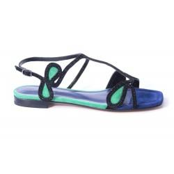 Sandal bicolor with swarovski