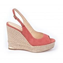 Sandale espadrille compensée