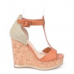 Sandale compensée en liége