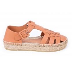 Flat sandal espadrille