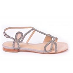 Sandale  strass bicolore