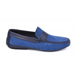 Mocassins nubuck perforé