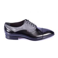 Pointed oxford shoes bimaterial