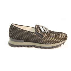 Slip on fishnet pattern