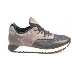 Sneakers cuir et néoprène