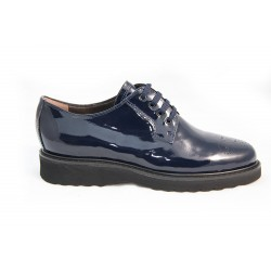 Derbies en cuir vernis