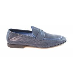 Perforated leather loafers