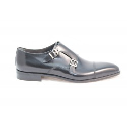 Monk straps in leather