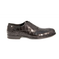 Oxford shoes in printed leather