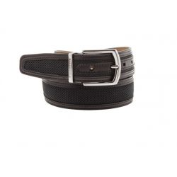 Perforated nubuck belt