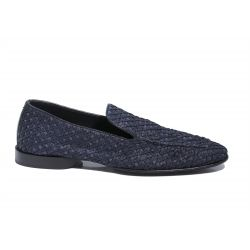 Loafers in woven fabric
