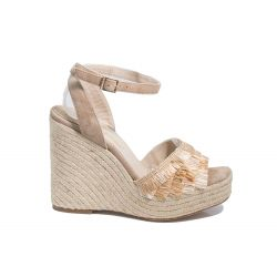 Espadrille raffia wedge sandals
