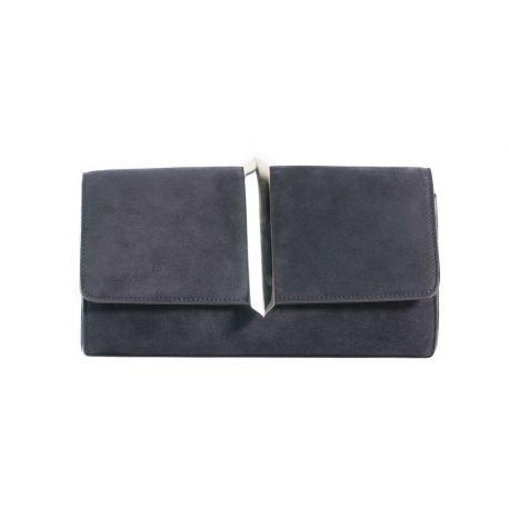 Clutch bag in suede
