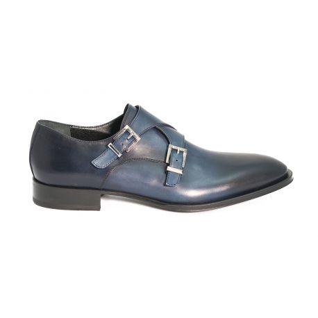 Monk straps brushed leather