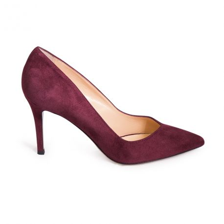 Pumps point-toe in suede