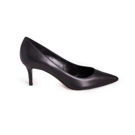 Pumps point-toe in leather