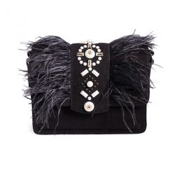 Clutch bag in suede