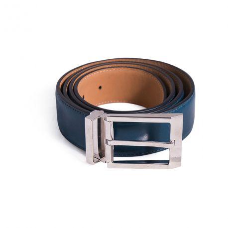 Brushed leather belt