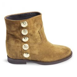 Ankle boot suede with internal heel