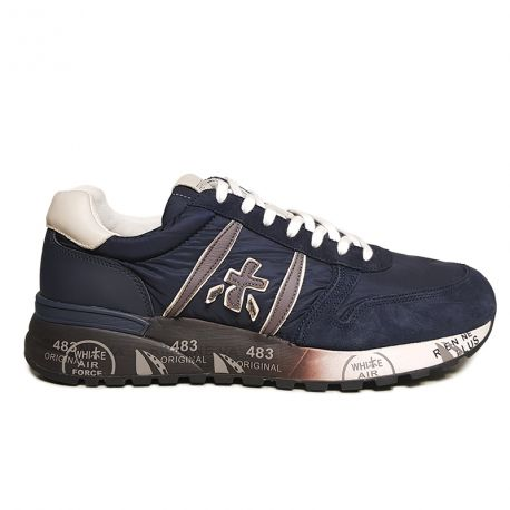 Suede and Technical Fabric sneaker