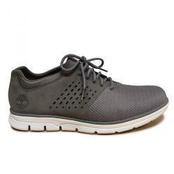 Perforated Suede and Nylon Sneakers