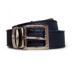 Leather Belt with Printed Scale Design